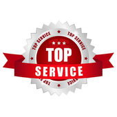 Top service button — Stock Vector