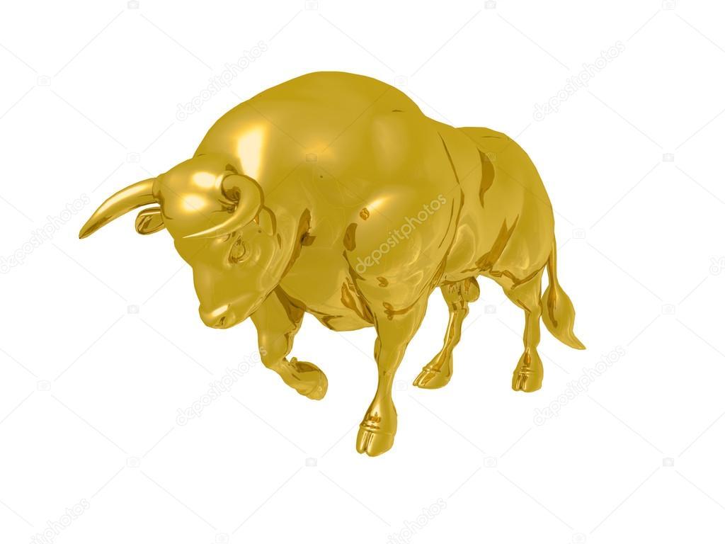 Золотой бык на рисунках