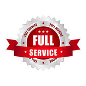 Full service button — Stock Vector