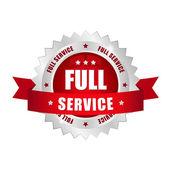 Full service button — Stock Vector