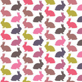 Colorful rabbit pattern — Stock Vector