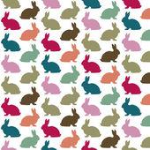 Renkli tavşan deseni — Stok Vektör