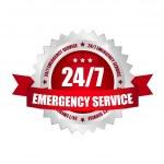 24-7 Service button — Stock Vector