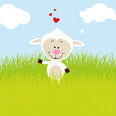 Lovely sheep — Stock Vector
