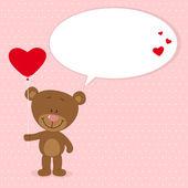 Little bear with — Stock Vector