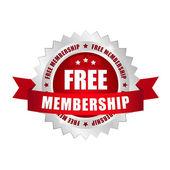 Free membership button — Stock Vector