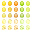 Colorful easter eggs — Stock Vector #21655013