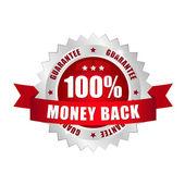 Money back button — Stock Vector