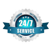 24-7 service button — Stock Vector