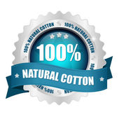 100 procent natural button — Vetorial Stock