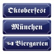 Oktoberfest signboards — Stock Vector