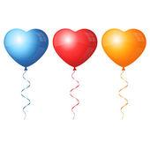 Renkli kalp balonlar — Stok Vektör