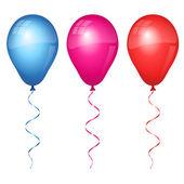 Coloridos globos — Vector de stock