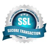 SSL transaction button — Stock Vector