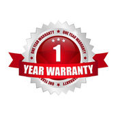 1 years warranty Button — Stock Vector