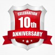 10 year anniversary - Stock Vector