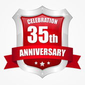 35 year anniversary — Stock Vector