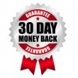 Stock Vector: 30 days money back web button