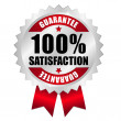Stock Vector: 100 percent satisfaction guarantee