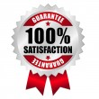 Vecteur: 100 percent satisfaction guarantee