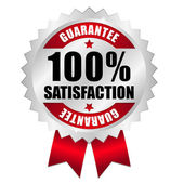 100 percent satisfaction guarantee — Wektor stockowy
