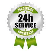 24 hour service button — Stock Vector