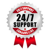 24-7 support button — Stock Vector