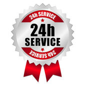 24 hour service button — Stock Vector