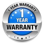 1 year warranty button — Stock Vector