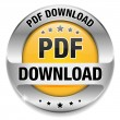 Yellow PDF download button — Stock Vector