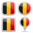 Belgian flag buttons  flag buttons — Stock Vector