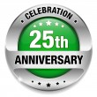 25 anniversary button — Stockvectorbeeld