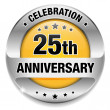 25 anniversary button — Vector de stock