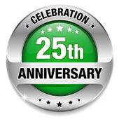 25 anniversary button — Stock Vector