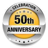 50 year anniversary button — Stock Vector