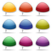 Colorful glossy speech bubbles — Stock Vector