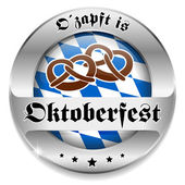 Oktoberfest button — Stock Vector