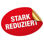 Red stark reduziert sticker — Stock Vector