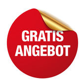 Red gratis angebot sticker — ストックベクタ