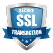 Stock Vector: Secure transaction seal