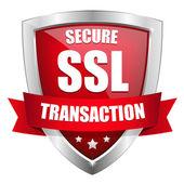 SSL Secure transaction button — Stock Vector