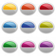 Buttons of different colors — Stock Vector
