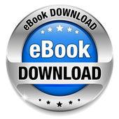 E book download button, badge — Stock Vector