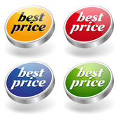 Labels and best price message set — Vettoriale Stock