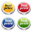 Stock Vector: Labels and best price message set