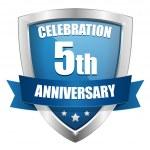 5 year anniversary — Stock Vector #27396373