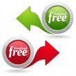 Download free button set — Stock Vector