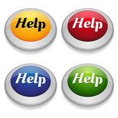 Ajude o botão definir — Vetor de Stock