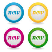 Labels new message set — Stock Vector