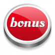 Big red glossy bonus button — Stock Vector #27748661